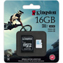 Kingston microSDHC Action Camera Class 10 U3 UHS-I 16GB + адаптер