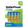 GoldenPower Greenergy LR6 AA 4BL Щелочные батарейки